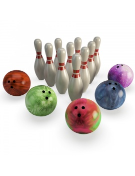 bowling-set-3d-model