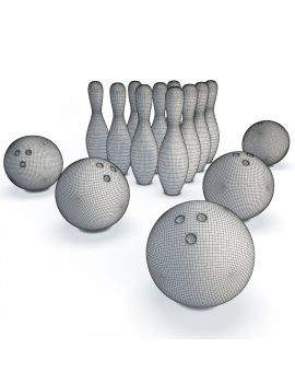 bowling-set-3d-model-wireframe