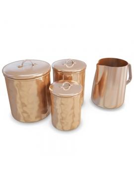 copper-cookware-set-3d-model