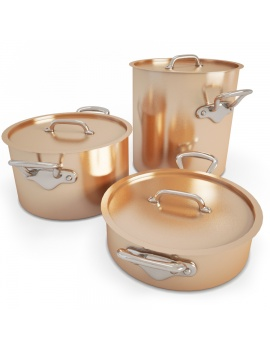 copper-cookware-set-3d-model