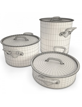 copper-cookware-set-3d-model-wireframe