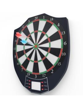 jeu-de-flechettes-electronique-modele-3d