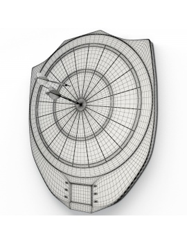 electronic-darts-game-3d-model-wireframe