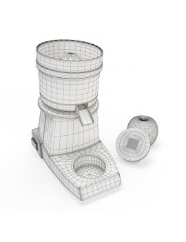professionnal-juicer-santos-3d-model-wireframe