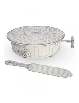 professionnal-crepe-maker-3d-model-wireframe