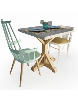 set-de-table-et-chaises-celaya-modele-3d