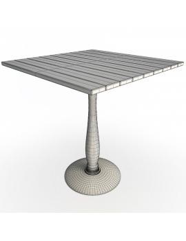 used-wood-table-natural-3d-model-wireframe