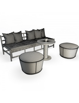 set-of-floated-wooden-sofa-and-footstools-3d-models-wireframe