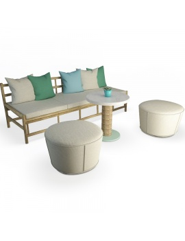 set-of-floated-wooden-sofa-and-footstools-3d-models