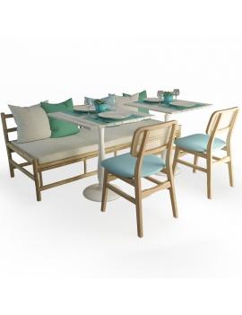set-de-canape-en-bois-flotte-et-chaises-modele-3d
