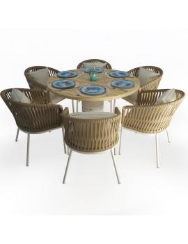 set-de-table-dalia-et-fauteuils-bitta-modele-3d