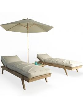 wooden-sunbeds-set-3d-models