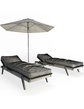wooden-sunbeds-set-3d-models-wireframe