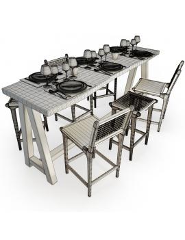 set-de-mobilier-de-restaurant-en-3d-vol-03-modeles-3d-composition-table-haute-2-filaire