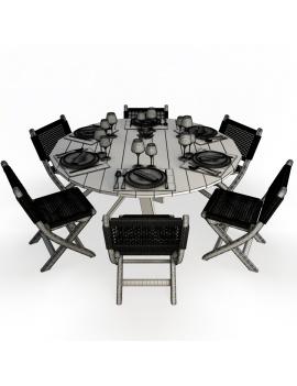 set-de-mobilier-de-restaurant-en-3d-vol-03-modeles-3d-composition-table-ronde-filaire