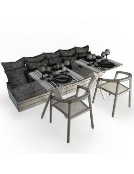 set-de-mobilier-de-restaurant-en-3d-vol-03-modeles-3d-composition-banquette-02-filaire