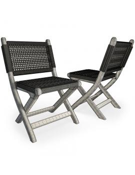 set-de-mobilier-de-restaurant-en-3d-vol-03-modeles-3d-chaise-pliable-tressée-filaire