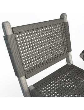 set-de-mobilier-de-restaurant-en-3d-vol-03-modeles-3d-chaise-pliable-tressée-02-filaire