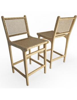 set-de-mobilier-de-restaurant-en-3d-vol-03-modeles-3d-tabouret-teck-tressé-1