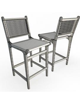 set-de-mobilier-de-restaurant-en-3d-vol-03-modeles-3d-tabouret-teck-tressé-1-filaire