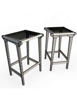 set-de-mobilier-de-restaurant-en-3d-vol-03-modeles-3d-tabouret-teck-tressé-2-filaire