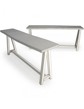 set-de-mobilier-de-restaurant-en-3d-vol-03-modeles-3d-table-haute-teck-02-filaire