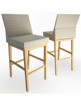 set-de-mobilier-de-restaurant-en-3d-vol-04-modeles-3d-tabouret-tresse