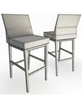 set-de-mobilier-de-restaurant-en-3d-vol-04-modeles-3d-tabouret-tresse-filaire