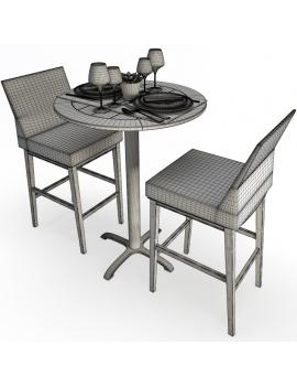 set-de-mobilier-de-restaurant-en-3d-vol-04-modeles-3d-composition-mange-debout-tabouret-tresse-filaire