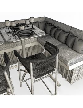 set-de-mobilier-de-restaurant-en-3d-vol-04-modeles-3d-composition-banquette-mange-debout-tabouret-kith-ethimo-02-filaire