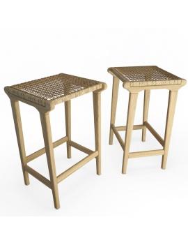 atelier-s-teak-backless-stool-braided-3d-model