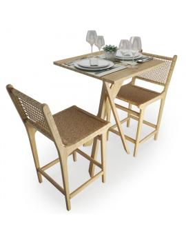 set-de-table-mange-debout-et-tabouret-en-bois-et-corde-atelier-s-modele-3d