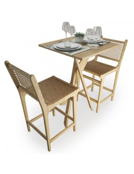 wood-and-rope-table-and-stool-set-atelier-s-3d-model