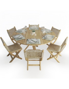 wood-and-rope-round-table-and-folding-chairs-set-atelier-s-3d-model