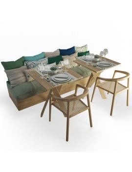 set-de-banquette-et-chaises-en-bois-atelier-s-modele-3d