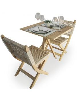 set-de-table-et-chaises-pliantes-en-bois-et-corde-atelier-s-modele-3d