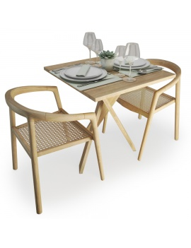 wood-and-rattan-table-and-chairs-set-atelier-s-3d-model