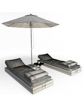 composition-de-bains-de-soleil-en-bois-ateliers-modele-3d-filaire