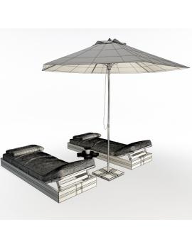 composition-de-bains-de-soleil-en-bois-ateliers-modele-3d-02-filaire