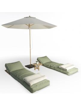 composition-de-bains-de-soleil-avec-tetieres-en-bois-atelier-s-modele-3d