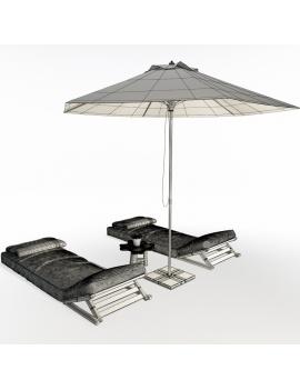 composition-de-bains-de-soleil-avec-tetieres-en-bois-atelier-s-modele-3d-02-filaire