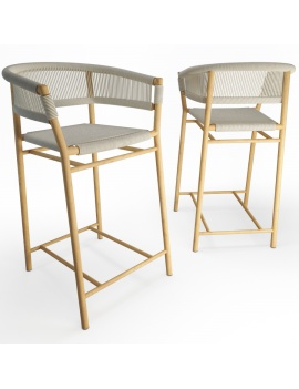 ethimo-kith-stool-3d-model