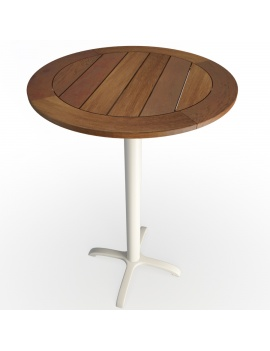 wooden-round-hightable-and-metallic-legs-3d-model