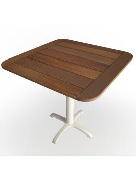 table-en-bois-et-pietement-metallique-modele-3d