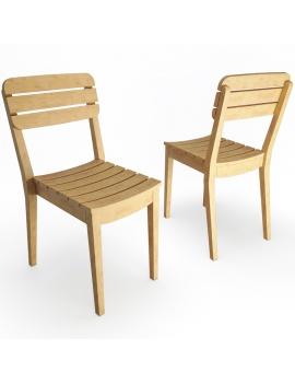 chaise-en-teck-lodge-de-vlaemynck-modele-3d
