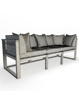 canape-en-bois-naturel-siena-modele-3d-filaire