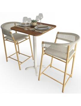 high-table-and-stool-kith-ethimo-set-3d-model