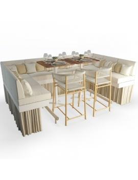 high-sofa-and-stool-kith-ethimo-set-3d-model
