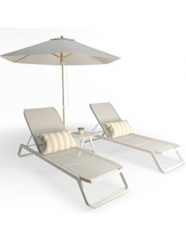 metallic-sunbeds-marieta-set-3d-model