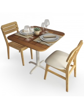 vicky-and-lodge-wooden-table-and-chair-set-3d-model